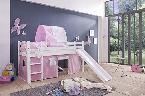 TONY Vorhang Spielvorhang für Kinderhochbetten 2-tlg. Lilly