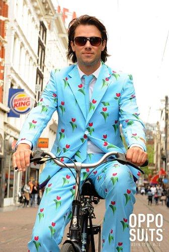 OppoSuits Designer Anzug Tulpen aus Amsterdam Kostüm Herren -