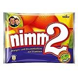 nimm2 – Kleine Süßigkeiten-Bonbons mit flüssigem Kern aus Fruchtsaft und reichhaltigen Vitaminen für Kinder und Erwachsene – 10 x 240g Beutel