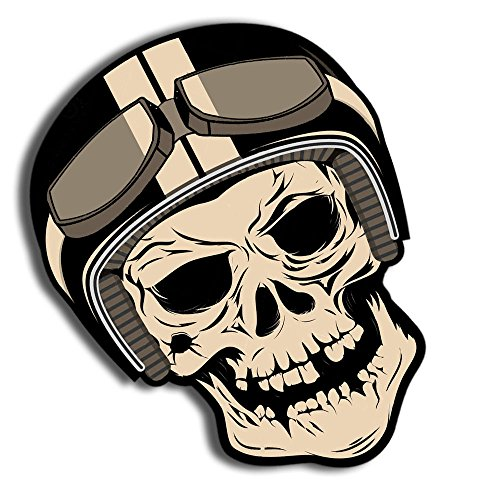 Skino 2 Stück Vinyl Aufkleber Autoaufkleber Skull Schädel Totenkopf Funny Horror Stickers Auto Moto Motorrad Fahrrad Helm Fenster Tür Tuning B 183