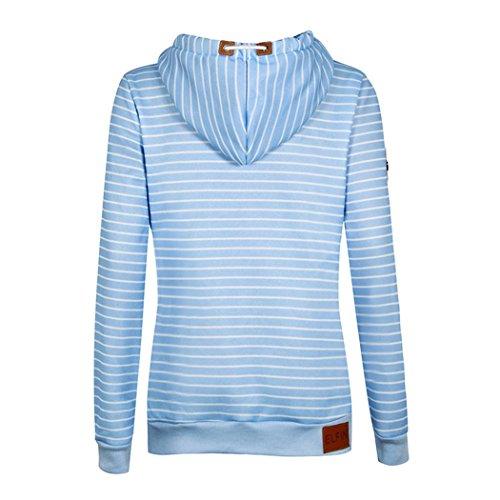Mode Encapuchonné Sweat-shirt Pour femme Doublure en polaire Chaud Pull-over Pour lhiver Bleu