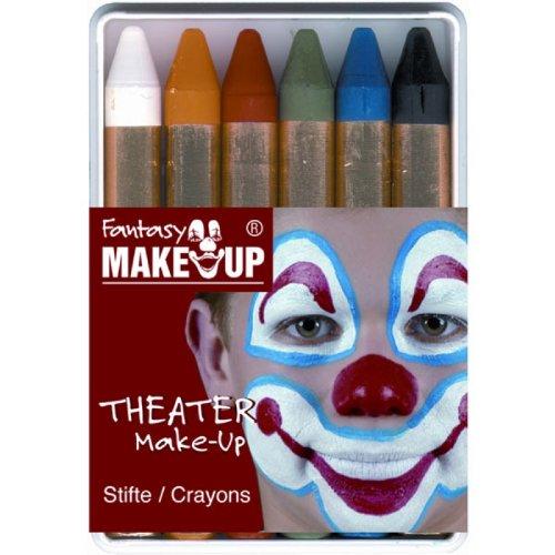 Kostüm Gemalt Auf - Everflag Schminkstifte Theater Make-Up, 6 Stifte