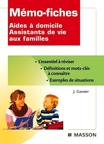 Mémo-fiches Aides à domicile - Assistants de vie aux familles