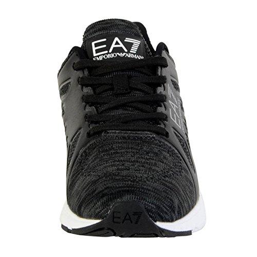 Emporio Armani EA7 chaussures baskets sneakers homme c-cube vigor gris Noir