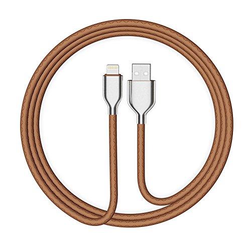 iPhone Ladekabel Nylon Lightning Kabel - 1m - USB Datenkabel für iPhone X 8/8 Plus 7/7 Plus 6S/6S Plus 6/6 Plus 5S 5C 5, iPad Air/Air 2, iPad mini 2/3/4, iPad 4,Braun