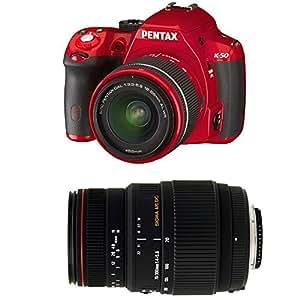 Pentax K50+ DAL 18–55mm WR + SIGMA 70–300mm-Set Kamera SLR 16.28MP CMOS 4928x 3264pixels rot–Digitalkameras (16,28MP, 4928x 3264Pixel, CMOS, Full HD, 590g, rot)