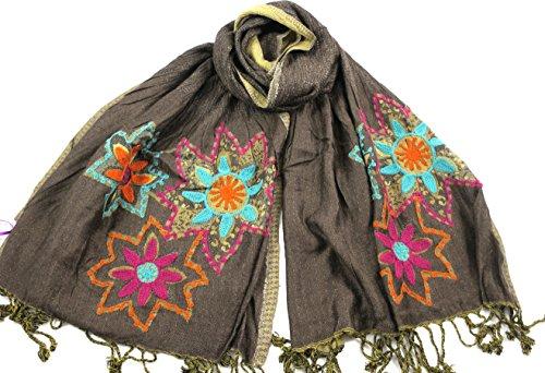 cool-trade-winds-echarpe-a-fleurs-femme-noir-dore