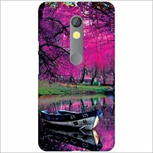Moto X Play Back Cover - Silicon Pink Tree Designer Cases