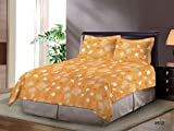 Bombay Dyeing Floral Polycotton Double Bedsheet With 2 Pillow Covers Lavender