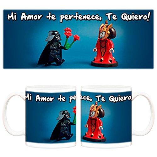 Taza Darth Vader y princesa Amidala Mi Amor te pertenece