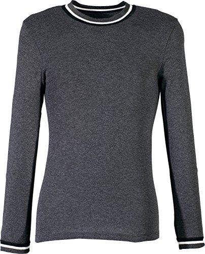 Preisvergleich Produktbild Unterhemd langarm 2er-Pack Feinripp anthrazit Größe 7