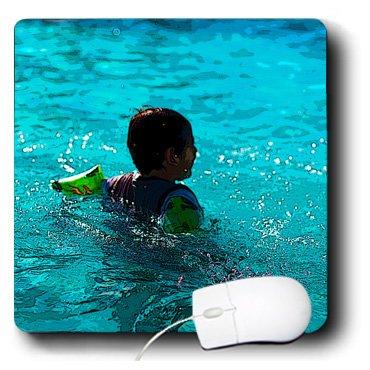 3drose 20,3x 20,3x 0,6cm Mauspad A Child At A Pool in mesquites Virgin River Hotel und Casino mit Flöße auf Arme (MP _ 60213_ 1)