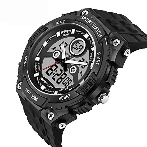 848ea427473e AFYH Relojes Deportivos para Hombre Reloj análogo Digital Deportivo para  Hombres - Reloj Multifuncional Impermeable al