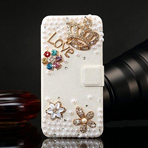 Phone case & Hülle Für iPhone 6 / 6s, Diamond verkrustete Bling Crown Pattern Horizontale Flip Leder Tasche mit magnetischen Buckle & Card Slots ( SKU : IP6G1005E ) IP6G1005A