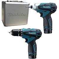 Makita LCT 204 2 x 1.3Ah 10.8v Cordless Drill Plus Impact Driver  - Blue
