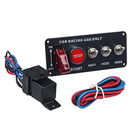 Hansee–Panneau de contrôle LED 12V, interrupteur d'allumage pour voitures de course