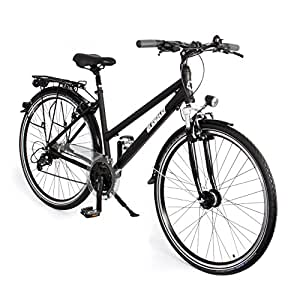 gregster damen aluminium city bike fahrrad stvzo schwarz 28 zoll gr 6671 sport. Black Bedroom Furniture Sets. Home Design Ideas