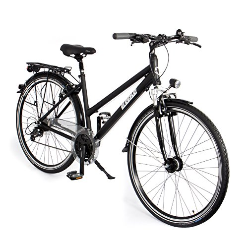 Gregster Damen Aluminium City-Bike Fahrrad StVZO, Schwarz, 28 Zoll, GR-6671