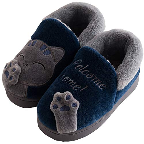 Kids Boys Girls Winter House Warm Plush Soft Slippers Children Cute Cartoon Shoes Anti-Slip Home Comfort Womens Mens Slippers