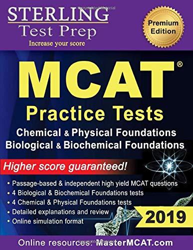 Sterling Test Prep MCAT Practice Tests: Chemical & Physical + Biological & Biochemical Foundations (Princeton Mcat Prep)