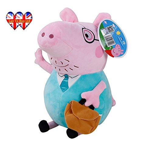 , ursprüngliche weiche Spielzeug: Papa, Mama, Peppa Pig & George erhältlich! (Papa Wutz) ()