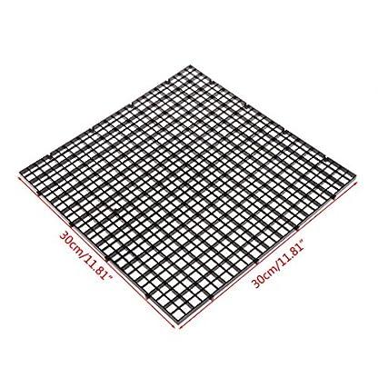 Dabixx Aquarium Fish Tank Isolation Divider Filter Patition Board Net Divider Holder Black 30x30cm 1 Set 3