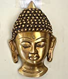 craftvatika Buddha Kopf Wand Maske Messing, Metall Wand aufhängen Himalaya Buddhistische