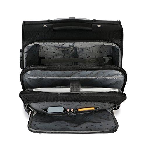 Novex Polyester 42 LTR Laptop Roller Case (Black)