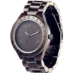 Luxury Style Men Black 100% Sandalwood Wooden Watch