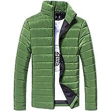 Chaqueta De Invierno Hombre Amlaiworld Chaqueta de Pluma Hombres Abrigo de Invierno Abrigo Parka Deportiva Chaquetas Outwear (XL, Verde)