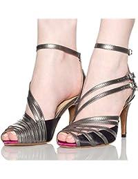 ZHRUI Femmes, Chaussures de Danse Latines, Chaussures de Danse sociales  Chaussures de Danse de Salon de Talons… 3c9da8c6c304