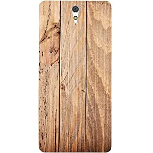 Casotec Wooden Texture Design Hard Back Case Cover for Sony Xperia C5 Ultra