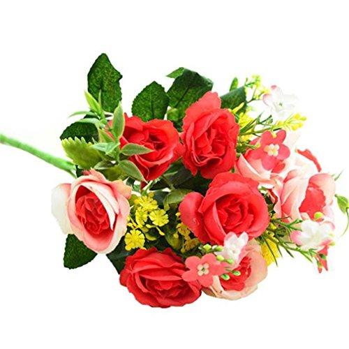 ★♣Irona Seta artificiale Peony fiori Garden Party