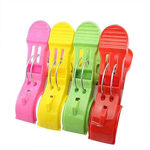Nikgic erschwingliche 4 Stück Set zufällige Farbe Exquisite Leben Großen Clip Multifunktions PP Kunststoff Clip Starke Quilt Clip -