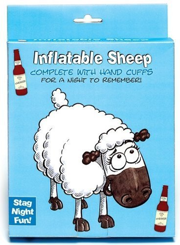 INFLATABLE SHEEP WITH HANDCUFFS STAG DO FUN ACCESSORIE LADS NIGHT OUT PARTY GIFT by Boxer