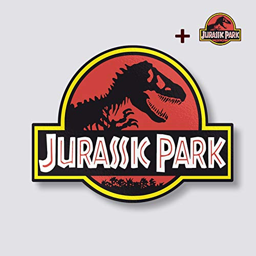 Edwin Gruppe von Unternehmen Jurassic Park Jeep Aufkleber | 18in. Jumbo Bumper Jeep Safari Dinosaurier | Jurassic Park Vinyl Aufkleber