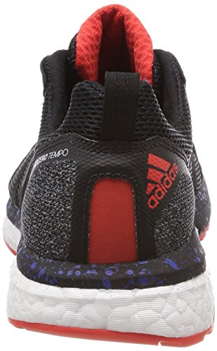 adidas Adizero Tempo 9 Aktiv, Chaussures de Running Mixte Adulte Noir (Core Black/core Black/hi-res Red S18 Core Black/core Black/hi-res Red S18)