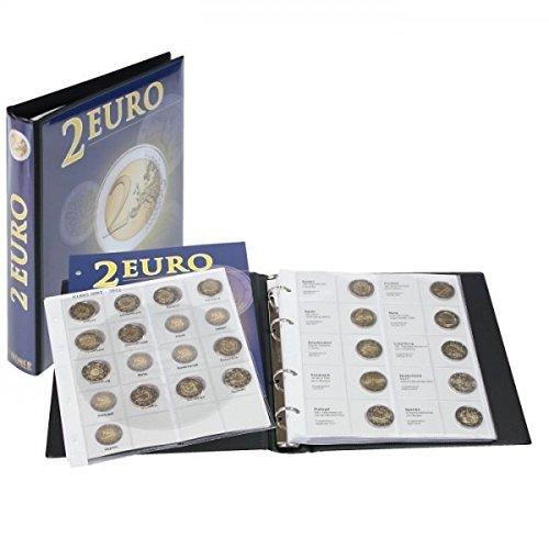 Vordruckalbum 2 Euro-Gedenkmünzen: Alle Euro-Länder (Litauen \'16 - Spanien \'17) [Lindner 1118M3] zur Unterbringung Aller 2 Euro-Gedenkmünzen (außer Monaco, Vatikan und San Marino)