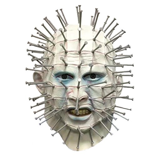 Verkauf Masken Gruselige Zum (Halloween Masquerade Masken Party Latex Jaffaite Plastik Mardi Gras Masken Lustige Scary Haunted Haus Best Gesichtsmaske Kopfbedeckung Dekorationen Moive Film Badly Mutilated)
