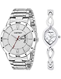 Cartney Analog White Dial Couple Watch - CPLWH5