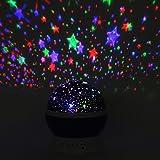 GHB Proyector de Estrellas 360 Grados de Rotación 3 Modo de Luz regalo para niños