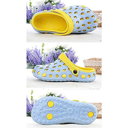 Eastlion EVA Paar Strand Garten Schuhe Sommer Mode Beiläufige halbe Hausschuhe für Liebhaber Weiblich Stil 1 Blau