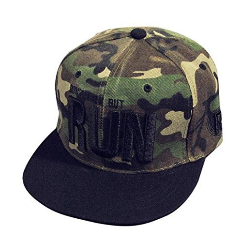 Ansenesna Fashion Stickerei SnapBack Boy HipHop Mütze adjustable Baseball Cap Unisex (Camouflage) (Trucker Puma Hut)