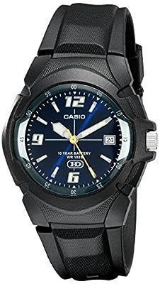 Casio MW-600F-2AV - Reloj analógico de caballero sumergible 100 atm, color negro