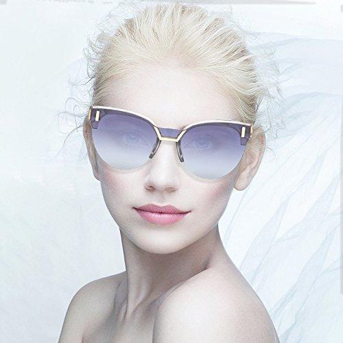 Lfives-sp Radfahren Sonnenbrillen Trend Sonnenbrille Metallrahmen Brillengestell Transparente Sonnenbrille Unisex Sonnenblende für Männer Frauen Laufen Radfahren Angeln Fahren G (Farbe : Hellbraun)