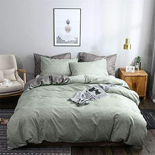 YUNSW Concise Bettwäsche Set Big Size Doppel Königin One Size Bettbezug Blatt Kissenbezug C 260x230cm (Blatt Königin Wasserdicht)