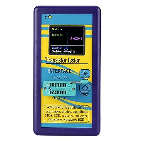 KKmoon Multifonctionnel Testeur de Transistor128 * 160 Ecran Couleur TFT Diode Thyristor Capacitance Resistor Inductance MOSFET ESR