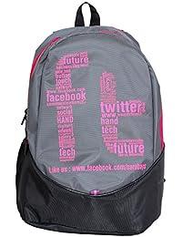 SARA 28 Liter Grey & Black School Bag For Boys And Girls.