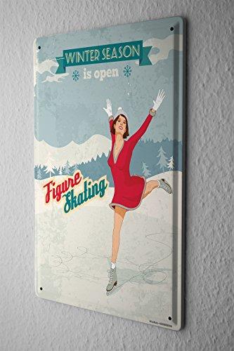 cartello-targa-in-metallo-divertimento-pattini-ghiaccio-stagionale