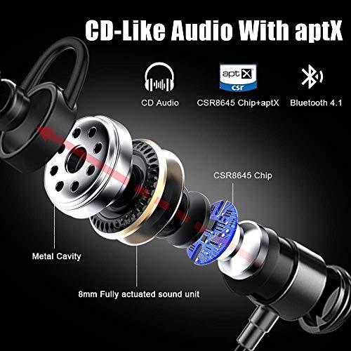 Arbily Bluetooth Kopfhörer, Y3 Sport Kopfhörer Leichter Magnetisch Stereo Noise Canceling Kopfhörer Wireless IPX7 Sweatproof In-Ear Sport Headset mit Mikrofon für Sport, Reisen und mehr(Silber) - 2